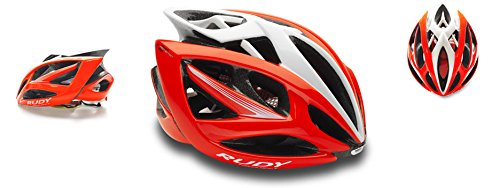 RUDY PROJECT HL540052, Casco Unisex – Adulto, Red Fluo/Bianco, L