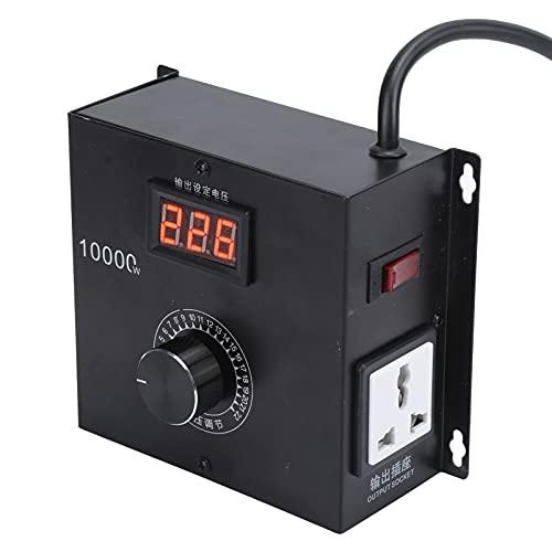 Regulador de voltaje eléctrico de tiristor SNT-10000W Controlador de voltaje de alta potencia Regulación de velocidad de atenuación con interruptor de perilla(EU Plug)