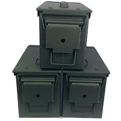 3-Pack Mil-Spec M2A1 50 Cal Empty Ammo Cans