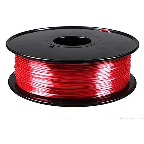 Filamento per stampante 3D 1,75 mm, filamento di seta PLA 1 kg, materiale composito polimerico, lucido-Rosso