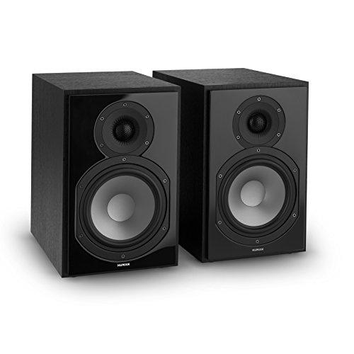 NUMAN Reference 802 - Regal-Lautsprecher, Lautsprecher-Boxen, HiFi-Boxen, Lautsprecher-Paar, high-end Boxen, 2-Wege-System, Spitzenleistung 120 Watt, Impedanz 4 Ohm, schwarz
