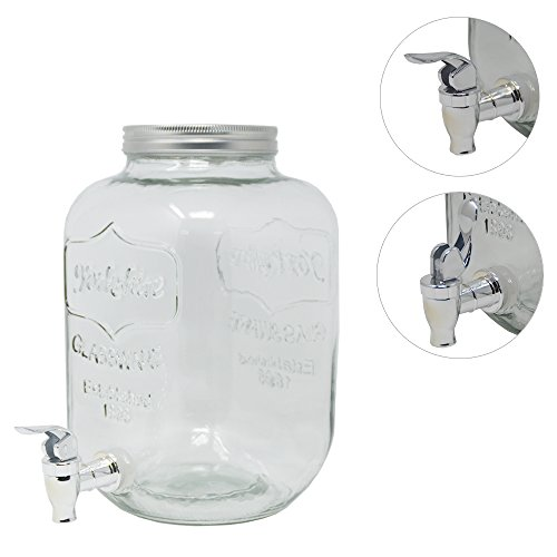 DRULINE 4L Getränkespender Dispenser Zaphahn Transparent 15 cm x 15 cm x 26 cm