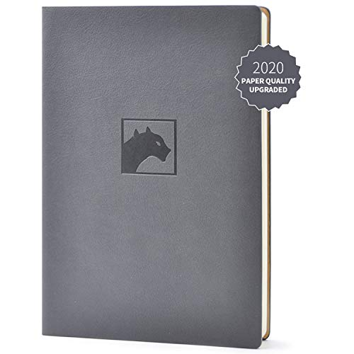 Evolway Fitness Journal and Planner,100 Days Diet and Workout Log, Gray Panther/Yellow Flash/Purple Lotus Design, Leather Cover, Sturdy Binding, Thick Pages & Laminated (Gary2.0)