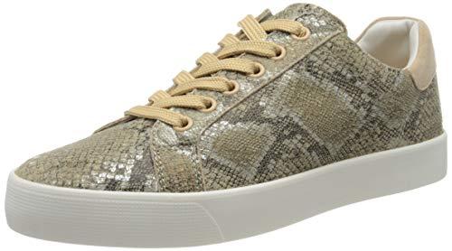 Caprice damskie sznurowane sneakersy, beżowy - Beige Beige Snake Co 493-38 EU