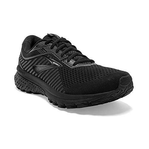 Brooks Mens Ghost 12 Running Shoe - Black/Grey - D - 11.0