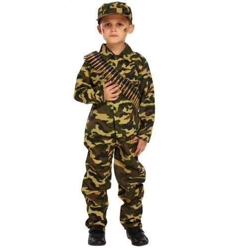 a77cdf62c Boys Child's Army Military Camouflage Soldier Uniform Fancy Dress Costume  Outfit (7-9 years