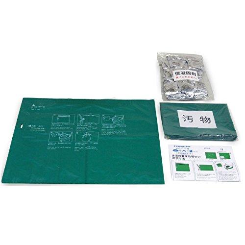 緊急対策用トイレ いろんな用途に、備えて安心 使いやすい かんたんトイレ袋 ニューベンリー袋 100回分セット NBI-100A【5個セット】
