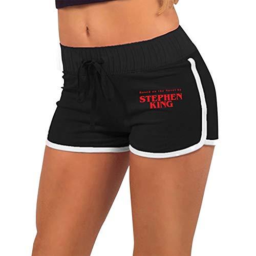 Based-On The Novel by Stephen King Basics Mujer Active Wear Lounge Yoga Gym Pantalones Cortos Deportivos Casuales Pantalones Cortos de Entrenamiento de algodón