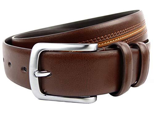"""Ollys STYLISCH Vollleder Braun Ledergürtel 1.35 Design Knightsbridge Herren alle Größen - Braun, XXL to fit waist 44\"""" - 48\"""" (112cm - 122cm)"""