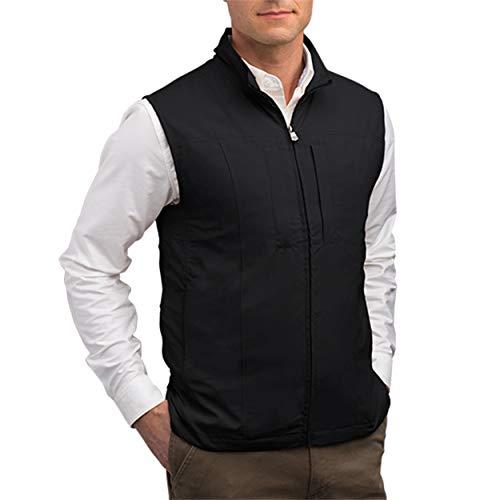 SCOTTeVEST Men's RFID Blocking Vest w/ 26 Pockets - Travel Vest (BLK, L)
