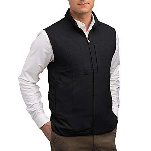 SCOTTeVEST Men's RFID Blocking Vest w/ 26 Pockets - Travel Vest (BLK, XXL)