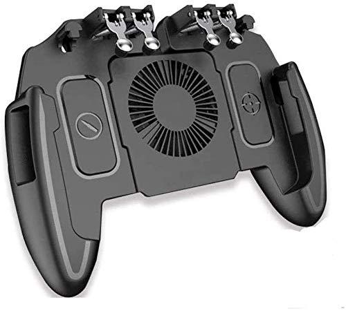 YUYANDE Controlador de Juegos móvil para PUBG Mobile Controller L1R1 Juego móvil Trigger Joystick Gamepad para 4-6.5'iOS y teléfono Android, Negro