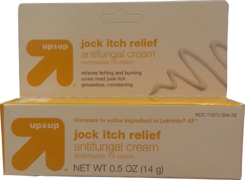 Up&Up Jock Itch Relief Antifungal Cream, Clotrimazole, 0.5oz, Compare to Lotrimin AF