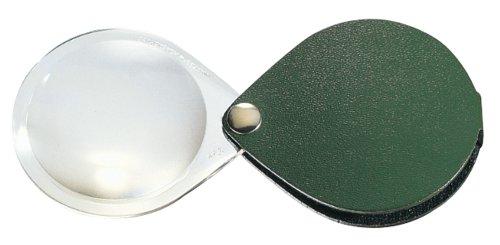 Eschenbach Optik Lupe Einschlaglupe classic, Vergrößerung 3,5 x, Durchmesser 60 mm, rund, piniengrün