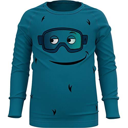 Odlo Jungen Active Warm Eco Sweatshirt, tumultuous sea - Graphic, 92