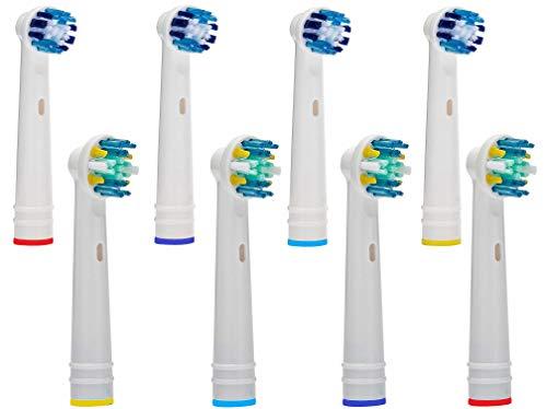 Ricambi per Spazzolino Elettrico Compatibile con Oral B Braun, 8 Pezzi Testine di ricambio per spazzolino elettrico compatibile con Oral-B Braun MIX (MIX)