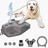 Dog Water Fountain, Automatic Pet Water Fountain Step On Paw Activated Dog Water Dispenser with 3 Nozzles, 9.8FT Hose & Y Splitter for Small, Medium to Large Dogs