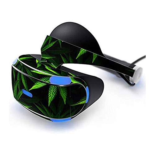 Cananmite Vinilo adhesivo para Playstation PS VR Headset Serie Green Leaf (grande)