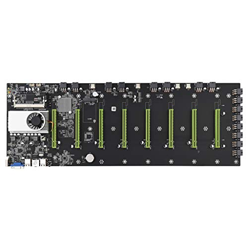ballboU BTC-D37 Motherboard for Cryptocurrency Mining(BTC) with 8 Video Card Slot, DDR3 Memory Integrated,VGA Interface Low Power Consumption