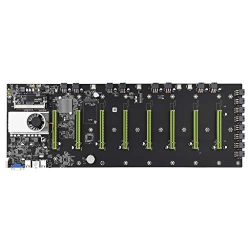 BTC-D37 Miner Motherboard CPU 847/1037U Set 8 Ranura para tarjeta de vídeo DDR3 Memoria VGA integrada Interfaz de bajo consumo de energía placas madre