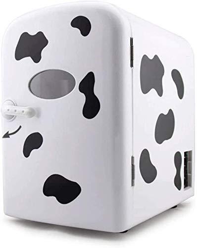 LCSD Mini Nevera Buena Compacto Mini refrigerador Separado del congelador, Nevera pequeña Inicio compartida de Coches 4 litros Mini refrigeración 12v220-240v Calor