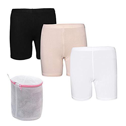 E-GOLE 2er/3er Pack Damen Unsichtbare Slips Panties Spitzenhöschen Baumwolle Boxershorts Unterhosen Unterwäsche mit Kostenlos Wäschebeutel
