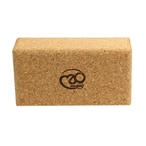 Yoga Mad, Cork Brick Unisex Adulto, Sughero, Taglia Unica