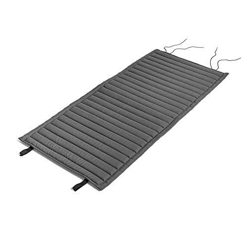HAY Palissade gewatteerde kussen 117x49,5 cm, antraciet waterafstotend voor Palissade Lounge stoel Low