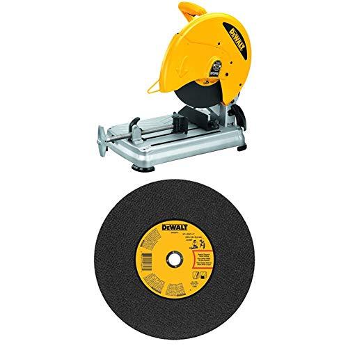 DEWALT D28715 14-Inch Quick-Change Chop Saw with DEWALT DWA8011 Gen. Purpose Chop Saw Wheel 14-Inch X 7/64-Inch X 1-Inch