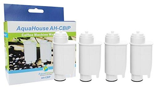 4x AquaHouse AH Cagno waterfilters cartridges compatibel met Saeco Phillips Lavazza Gaggia Espresso A Modo Mio koffiezetapparaten en volautomaten Saeco CA6702/00