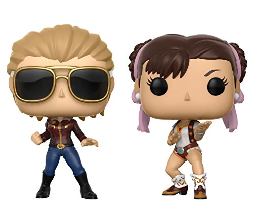 Funko POP! Marvel vs Capcom: Capitana Marvel vs Chun-Li