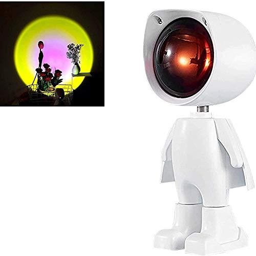 TAIDENG Lámpara LED para proyector luminoso nocturno, luces de puesta de sol, proyector de tecnología de ensueño lámpara LED, lámpara de fotografía, decoración de CA