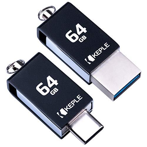 Dispositivo de Memoria USB 64GB USB C 3.0 Alta Velocidad OTG Compatible con Xiaomi Mi A1, A2, A3 / Mi Mix 3, Mi Mix 2 / Mi 8, 8 Pro, 8 Lite/Redmi K20, K20 Pro | 64 GB Tipo C