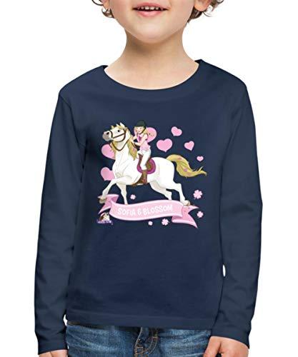 Schleich Horse Club Sofia & Blossom reiten aus Kinder Premium Langarmshirt, 122-128, Navy