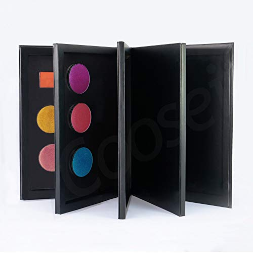 Coosei - Palette vuota per ombretto mangietico a 3-4 strati a forma di libro, grande scatola per trucchi