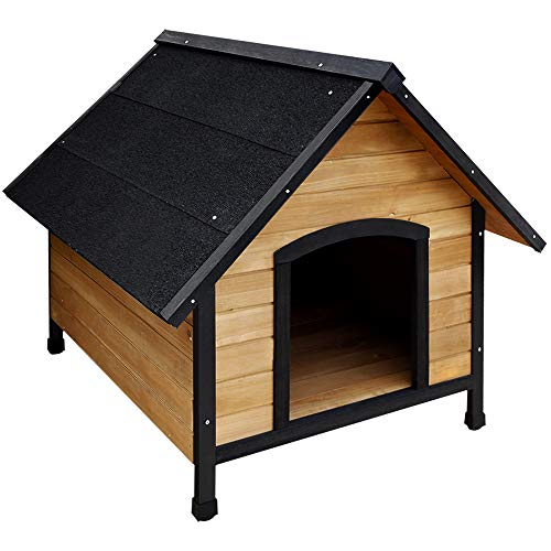 i.Pet Extra Large Pet Dog House Kennel Puppy Wooden Timber with Storage Cabinet and Bowls for Outdoor Garden