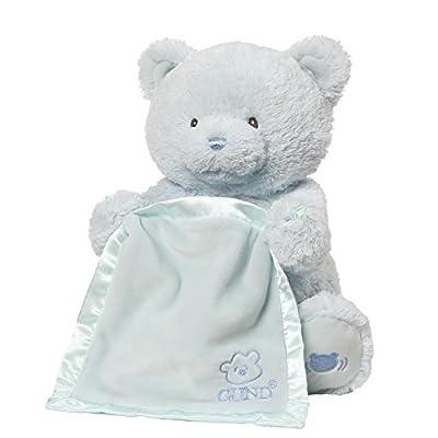 Baby GUND My First Teddy Bear Peek A Boo Animated Stuffed Animal Plush, Pink,