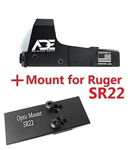 Best Bargain Ade Advanced Optics Mini RD3-006x Green Dot Reflex Sight for Ruger SR22 Pistol Mounting...