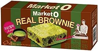Market O Real Brownie Matcha Green Tea Flavor 192g (24g x 8 cookie) Korea Snack Cookies