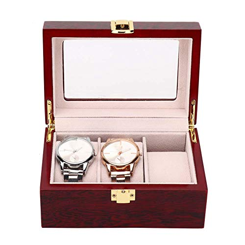 Horlogebox voor 3 pc's horloges, opbergdoos voor polshorloge, kijkdoos voor horloges 16,5 x 11 x 8 cm, geschikt voor persoonlijk gebruik en de professionele horlogehandel