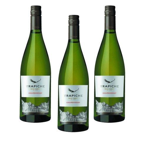 Trapiche Roble Chardonnay Oak Cask - Vino Blanco- 3 Botellas
