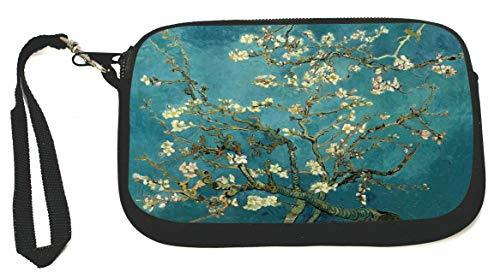 Vincent Van Gogh Almond Blossoms Zipper Coin Purse - Wristlet - Camera Case - MP3 Case - Ideal for carrying Phone, Cash, Cosmetics, mp3 player, etc. etc.