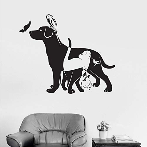 Cyalla hond kat vogel konijn dier dierenarts Vinyl muur Decal Home Decor DIY kunst muurschildering verwijderbare muur Stickers 57 * 62Cm