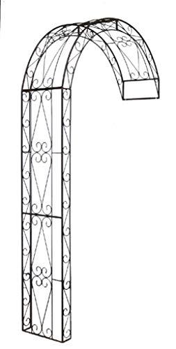 Unbekannt Rosenbogen Halbbogen aus Metall, Rankhilfe Pergola 12160