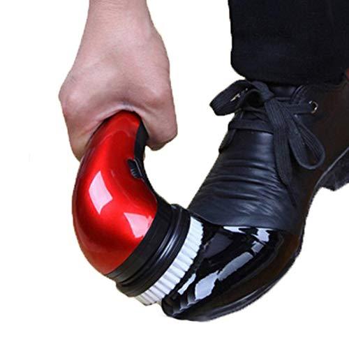 FHKBK Cepillo eléctrico para pulir Zapatos, Kit de Brillo, Cepillo eléctrico para pulir Zapatos, Limpiador de Zapatos, Limpiador de Polvo, Kit de Cuidado de Cuero portátil para Zapatos,