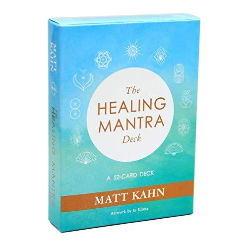 GXLO Das heilende Mantra-Deck EIN 52-Karten-Deck Matt Kahn Beliebtes spirituelles Mantra-Oracle-Kartenspiel Heilung Set erzählt.