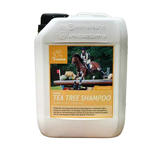 EMMA Teebaumöl Pferdeshampoo I Hundeshampoo I Pflegeshampoo Teebaum-Öl Juckreiz I Shampoo für Pferde empfindlicher Haut I Fellglanz I leichte Kämmbarkeit reinigt juckende Haut Schweif Mähne 2500ml