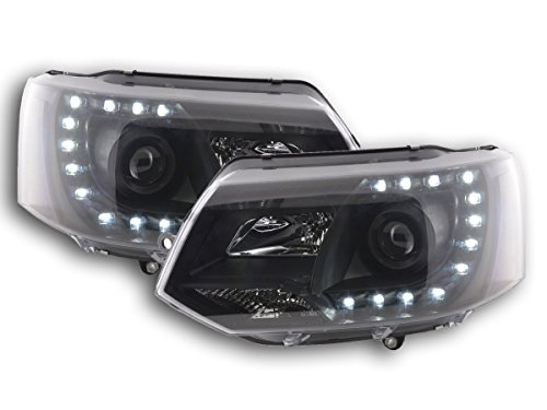 FK Automotive fkfsvw14009 – Faros delanteros Daylight con LED Luz diurna, color negro