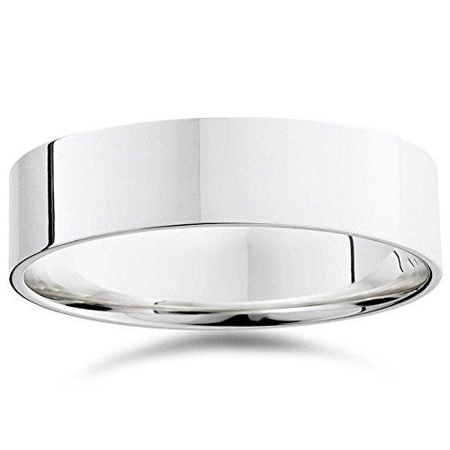 Para hombre 6mm soporte de 950Platinum comodidad boda banda anillo