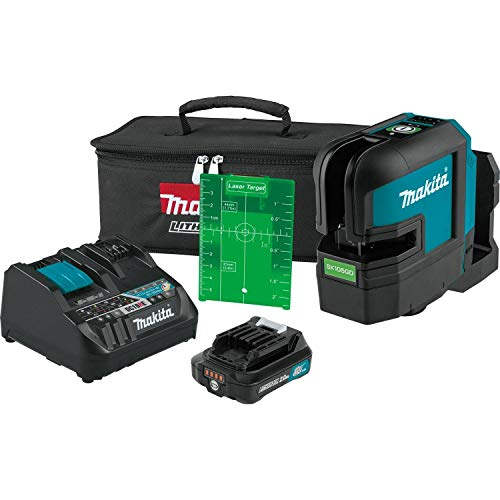 Makita SK105GDNAX 12V max CXT Lithium-Ion Cordless Self-Leveling Cross-Line Green Beam Laser Kit (2.0Ah)